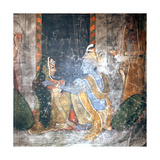 Krishna Sitting with the Gopis (Daughters of the Cowherds) Wydruk giclee