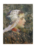 Portrait of Katje Giclee Print by James Jebusa Shannon