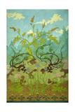 Goldenrod and Mauve Irises; Jaunes Et Iris Mauves, 1899 Giclée-Druck von Paul Ranson