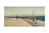 Figures on the Banks of an Estuary Giclee Print by William Lionel Wyllie