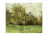 Piette's House in Montfoucault; La Maison De Piette a Montfoucault, 1874 Reproduction procédé giclée par Camille Pissarro