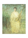 Model with a Lute Giclee Print by Julian Alden Weir