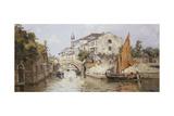 A Venetian Backwater Giclee Print by Antonia Maria de Reyna Manescau