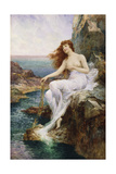 A Sea Nymph Seated on a Rock with a Ribbon of Seaweed, 1897 Giclee Print by Alfred, Jr. Glendening