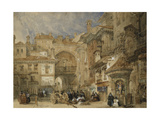 The Gate of the Viva Rambla, Granada, 1834 Giclée-Druck von David Roberts