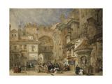 The Gate of the Viva Rambla, Granada, 1834 Giclee Print by David Roberts