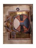 """Illumination from Hildegard Von Bingen's """"Liber Divinorum Operum"""" or """"Book of Divine Works"""", in… Giclee Print"""