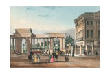 The Entrance to Hyde Park from Piccadilly with the West Wing of Apsley House Giclee Print by  English School