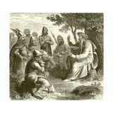 A Bard Singing the Deeds of Teuton Warriors Giclee Print