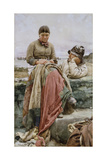 A Lover and His Lass, 1884 Giclee Print by Walter Langley