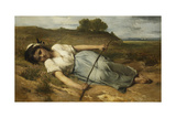The Shepherdess, 1870 Giclee Print by Jean Francois Portaels