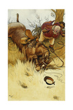 A Fall's a Hawful Thing Giclee Print by Cecil Aldin