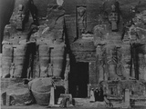 The Colossal Statues of Ramses II at Abu Simbel, Photographed in the 1920's Photographic Print