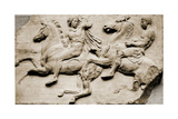 Detail of Two Galloping Riders from the West Frieze of the Parthenon Giclée-tryk