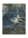 Two Dancers; Deux Danseuses Giclee Print by Jean Louis Forain