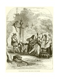Prince Charles Surprising the Infanta in Orchard Giclee Print