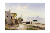 From Sorrento, Towards Capri, 1889 Giclee Print by Peder Mork Monsted