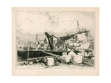 Demolition of Old London Bridge, 1832 Giclee Print by Edward William Cooke