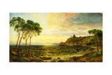 Sunset over Lake Thrasemine, 1887 Giclee Print by Jasper Francis Cropsey