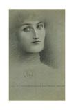 Female Head; Tete De Femme, 1896 Giclee Print by Fernand Khnopff