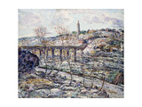 Harlem River Bridge Giclee Print by Ernest Lawson