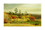 Conversation at the Fence, 1873 Giclee Print by Jasper Francis Cropsey