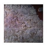 Relief Depicting the Elamite City of Madaktu Giclee Print