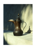 Brass Hornbill-Spouted Coffee Pot, Dallah, of the Type Once Found Throughout the Emirates Giclee Print