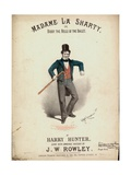 Madame La Sharty or Biddy the Belle of the Ballet Giclee Print by Alfred Concanen