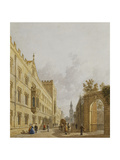 Exeter College, Oxford, 1848 Giclee Print by George Pyne