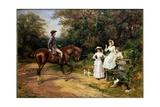 A Meeting by a Stile Gicléetryck av Heywood Hardy
