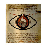 Anatomy of the Eye from the Islamic Medical Manuscript of Al-Mutadibi Giclee Print