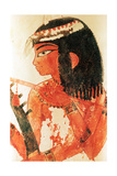 A Detail of a Painting from the Tomb of Nakht Depicting Three Female Musicians Giclee Print