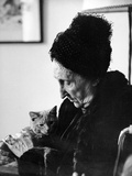 Dame Edith Sitwell, with Her Cat Leo, 1962 Photographic Print