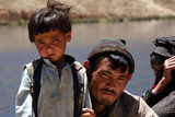 Hazara Boy with Father, Afghanistan Photographic Print