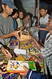 Indians Buying Fireworks En Masse Photographic Print