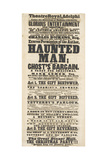 Dickens Playbill: 'The Haunted Man', at Adelphi Theatre Royal, 28th December 1848 Giclee Print