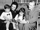 Cecil Day-Lewis with His 2nd Wife Jill Balcon, and their Two Children Daniel and Tamasin, 1965 Photographic Print