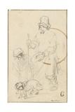 A Blind Beggar Boy and a Dog Giclee Print by  Rembrandt van Rjin