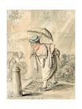 Sad Sloppy Weather Giclee Print by Thomas Rowlandson