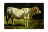 Cow in a Landscape Giclee Print by Friedrich Johann Voltz