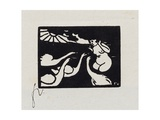 Bather with Swans, X from 'Les Petites Baigneuses', 1893 Giclee Print by Félix Vallotton