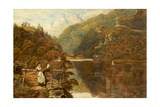 The Boat Pier, Loch Katrine Giclee Print by Theodore Hines
