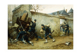 A Surprise Attack, 1888 Giclee Print by Etienne Prosper Berne-bellecour