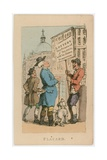 Placard. Lottery - Two Prizes of £30,000 Will Be Drawn Tomorrow Giclee Print by Thomas Rowlandson