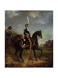 Tsar Nicholas I of Russia, When Grand Duke, Riding in Hyde Park Giclee Print by Alexander Ivanovich Sauerweid
