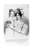Queen Victoria and Her Mother Princess Victoria, Duchess of Kent and Strathearn, Engraved by… Giclee Print by Sir George Hayter