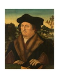 Portrait of a Gentleman in a Landscape Giclee Print by Joos Van Cleve