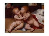 The Infant Christ with the Infant St John the Baptist Giclee Print by Quentin Massys or Metsys