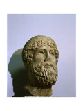 The Head from a Statue of Zeus Which Was Copied from a Greek Bronze Original of About 450 Bc Giclee Print